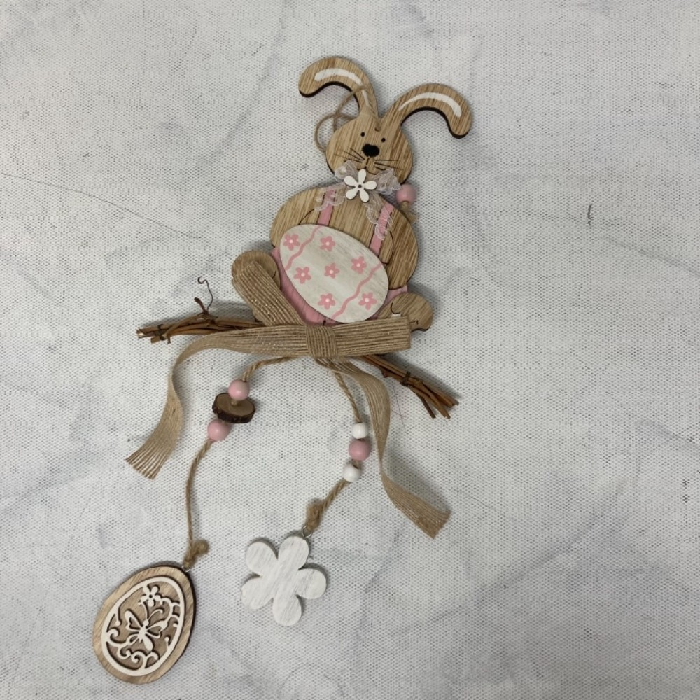 zajíček dekorace dřevěná