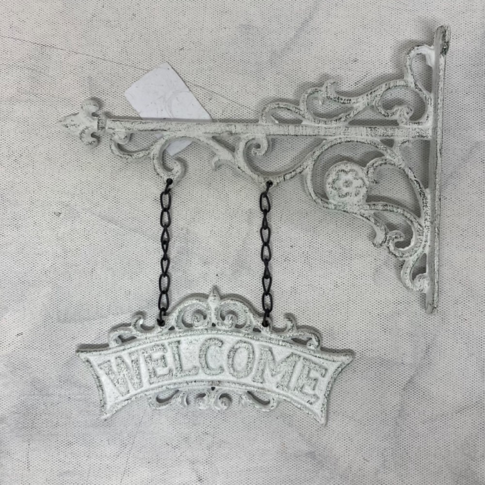 dekorace welcome kovová