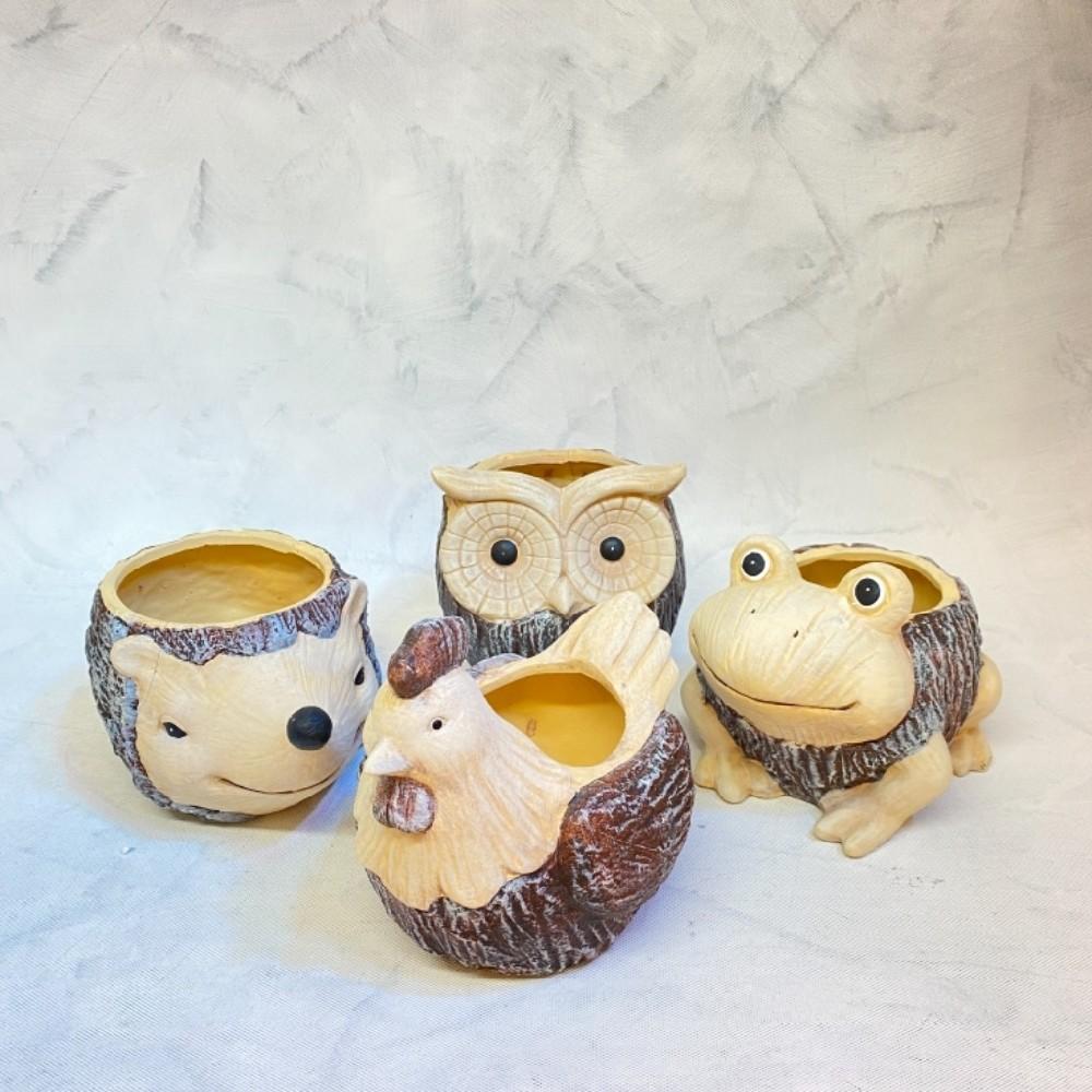 květináč žába keramika