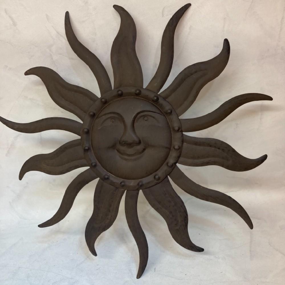 slunce kovová dekorace