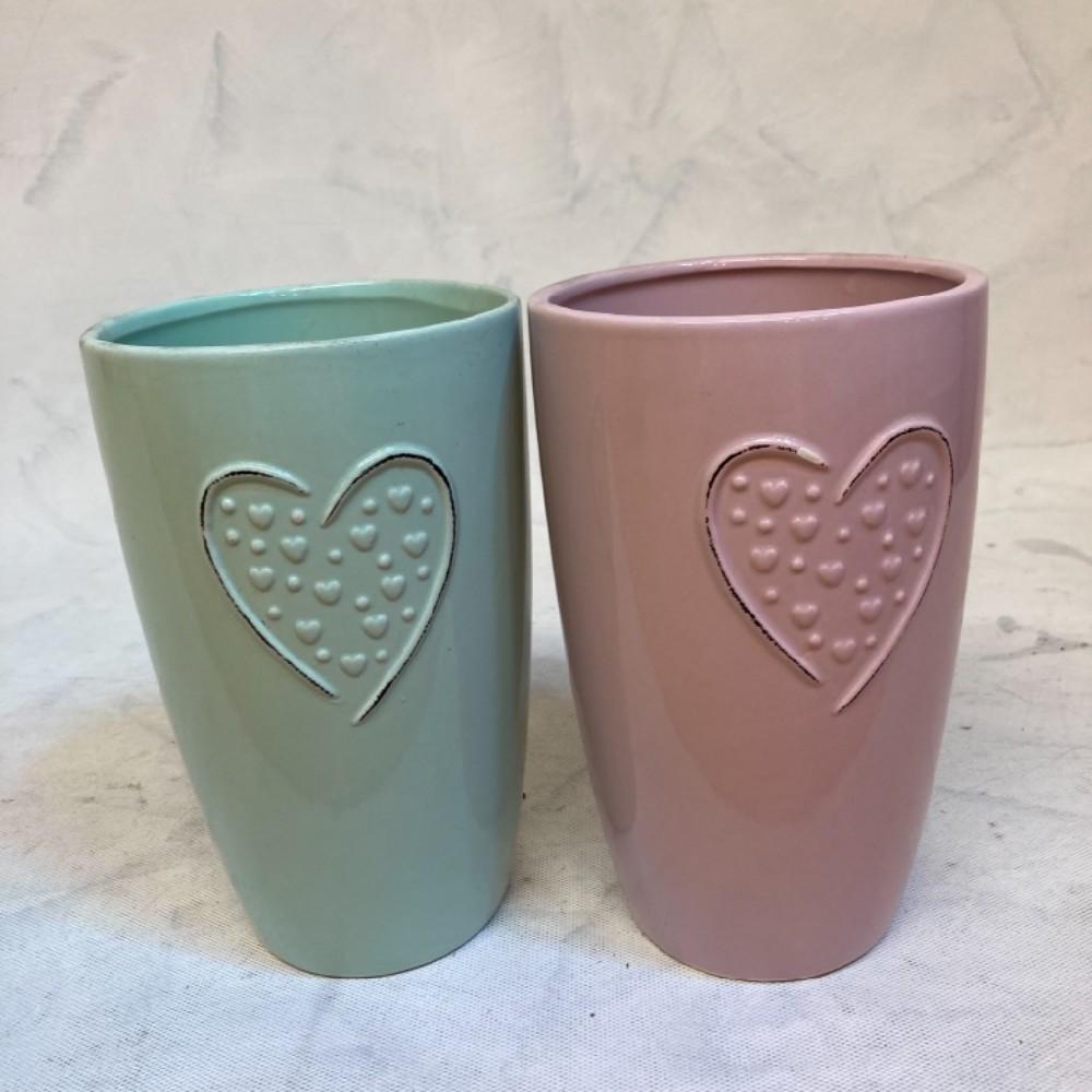 váza srdce 22cm