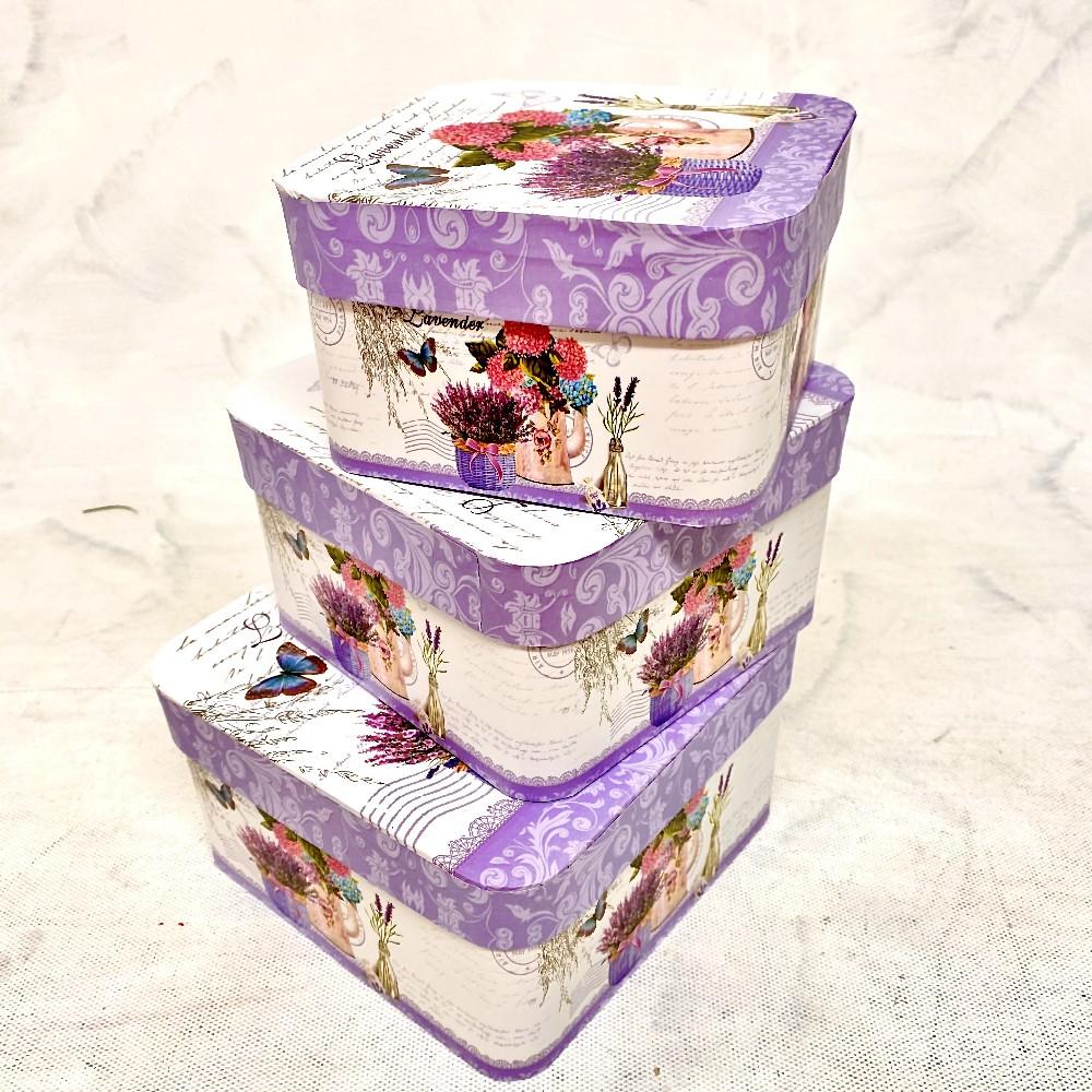 krabice levandule14x14x8,5cm
