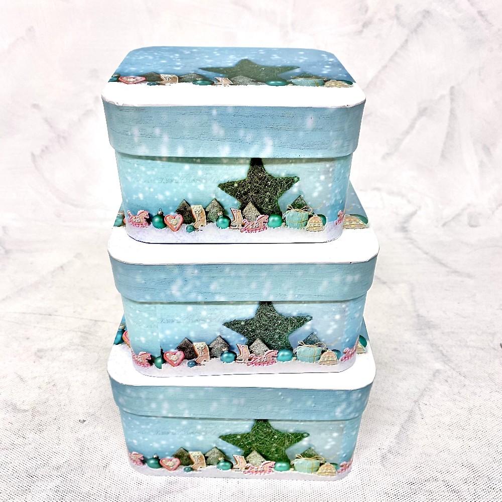 krabice vánoční 14x14x8,5cm