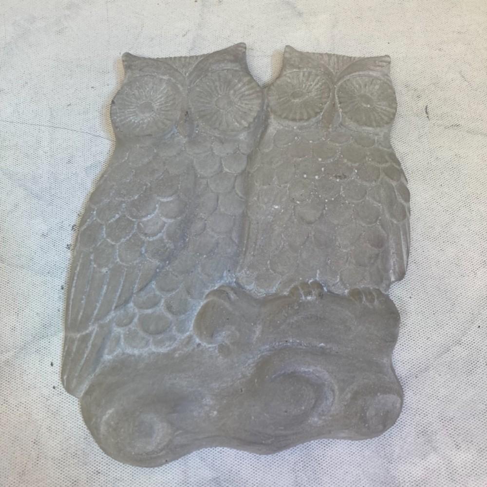 sovy beton dekorace závěsná