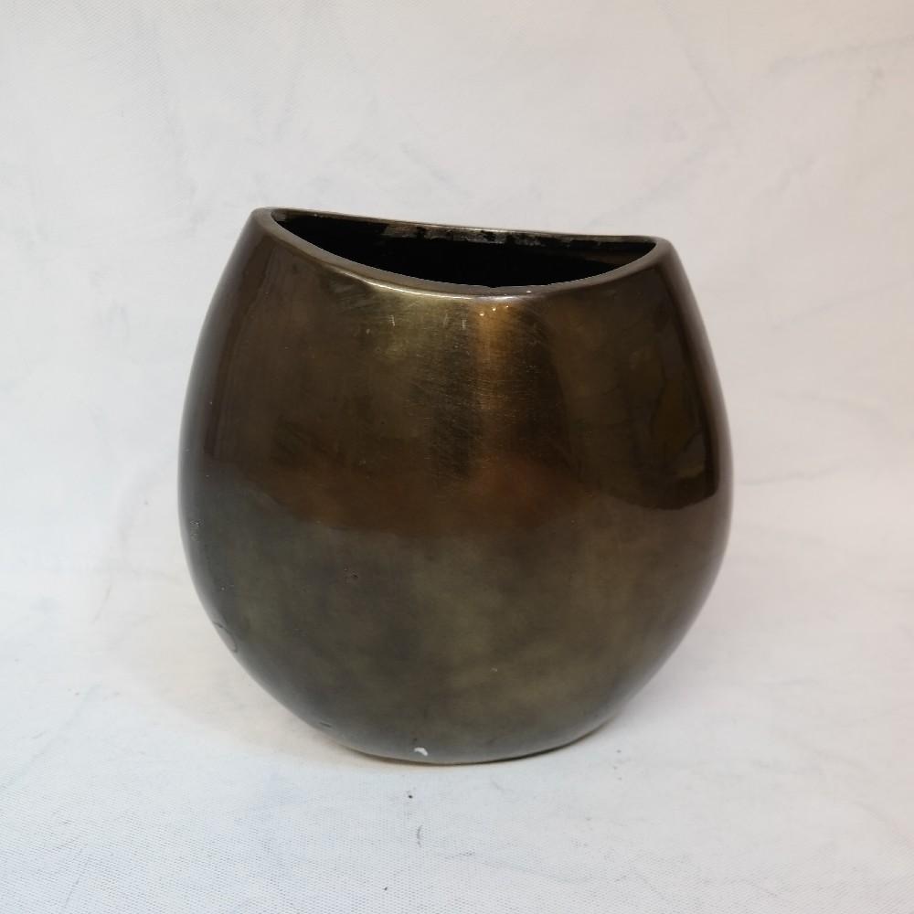 váza metalická/zelená