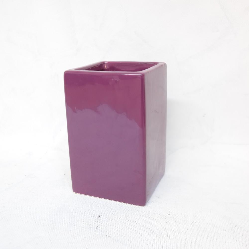 obal na květiny keramický/fialový