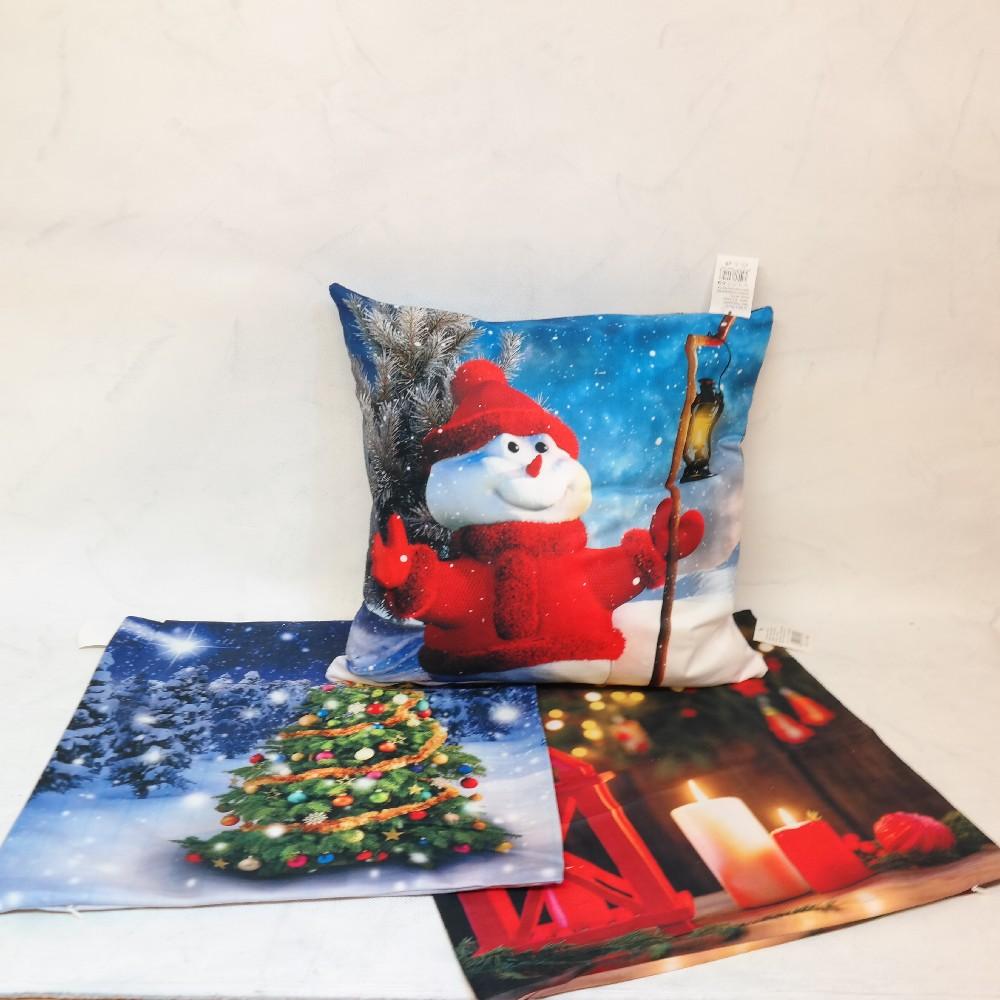 povlak na polštář 40x40 cm vánoční motiv