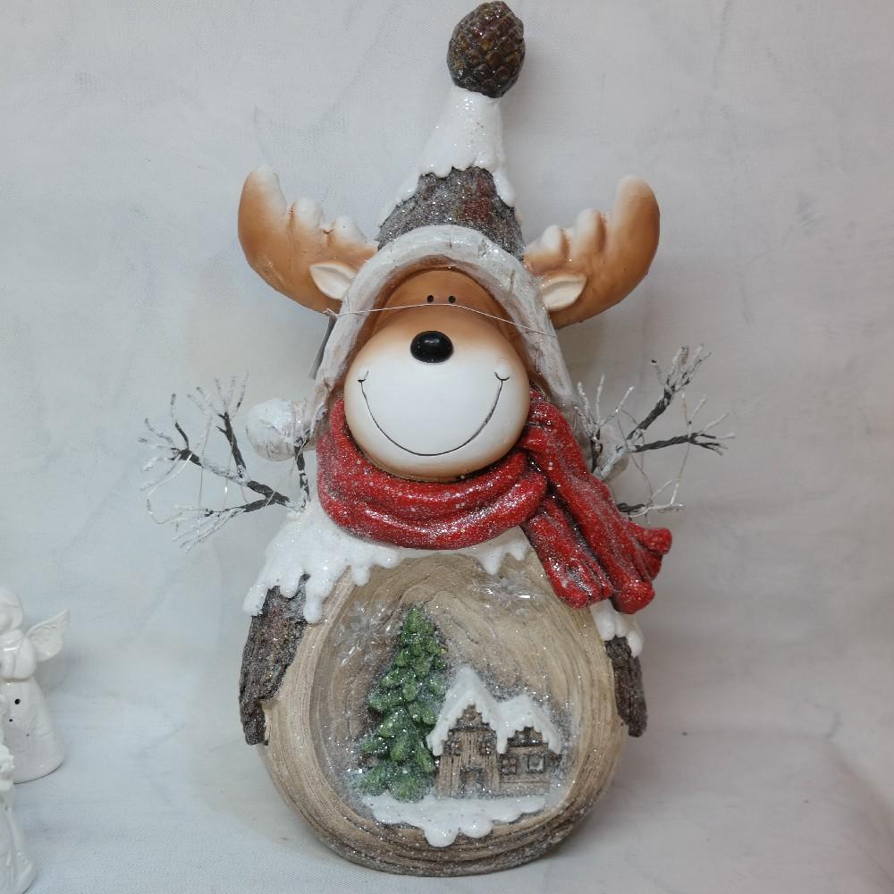 sob svítící vánoční dekorace