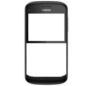 Nokia E5 Přední kryt Brown (Originální)