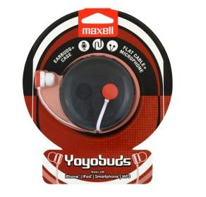 MAXELL YOYO BUDS Stereo Sluchátka (RED/BLACK)