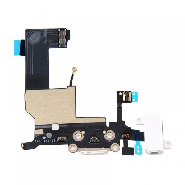 Apple iPhone 5 Dock Konektor, Flex Kabel včetně Dobíjecího Konektoru (White)