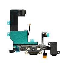 Apple iPhone 5 Dock Konektor, Flex Kabel včetně Dobíjecího Konektoru (Black)