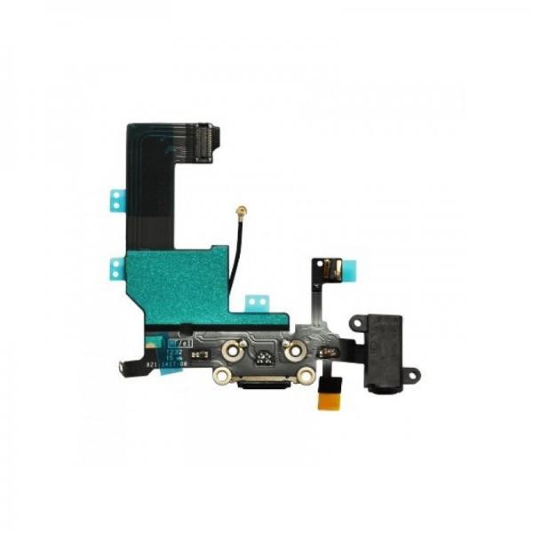 Apple iPhone SE Dock Konektor, Flex Kabel vč. Dobíjecího Konektoru (Black)