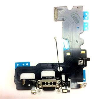 Apple iPhone 7 Dock Konektor, Flex Kabel vč. Dobíjecího Konektoru (Black)