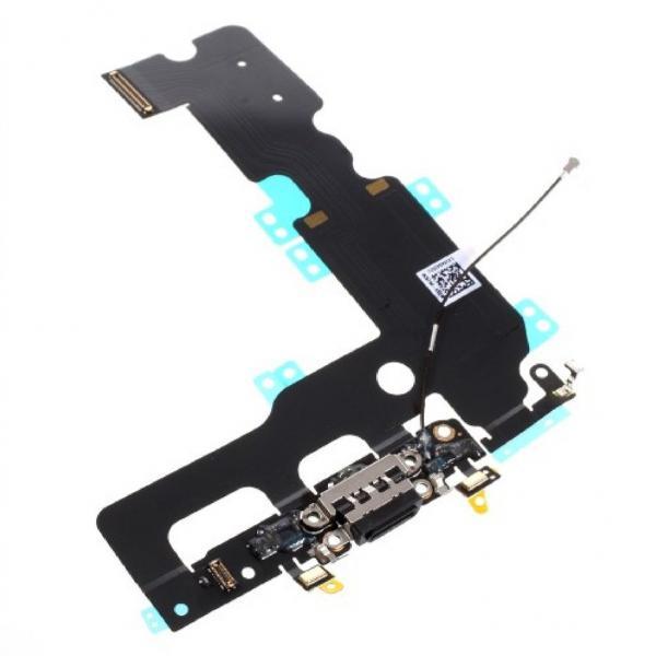 Apple iPhone 7 Plus Dock Konektor, Dobíjecí konektor vč. Flex Kabelu (Black)