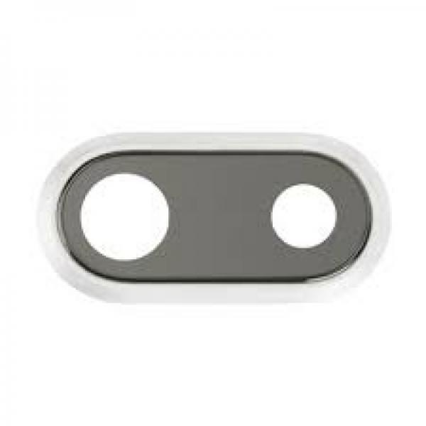 Apple iPhone 8 Plus Sklíčko Kamery + Rámeček (White)