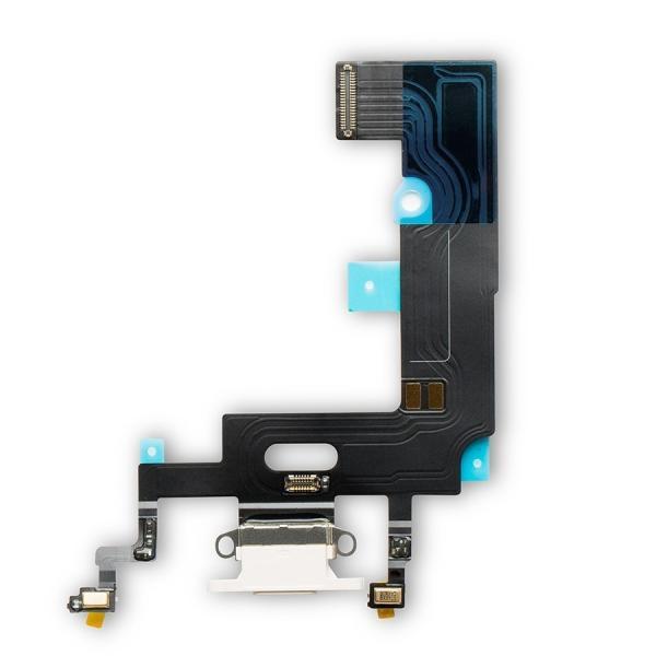 Apple iPhone XR Dock Konektor, Dobíjecí konektor, Flex Kabel (White)