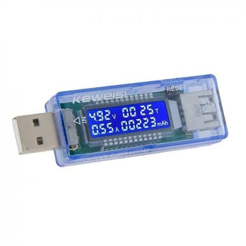 KEWEISI Tester Napájení, Voltmetr, USB Měřič Napětí a Proudu