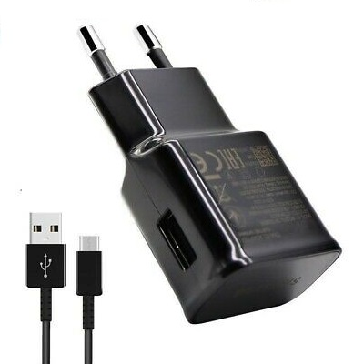 EP-TA200 + Kabel Samsung Type C Cestovní nabíječka Black (Bulk)
