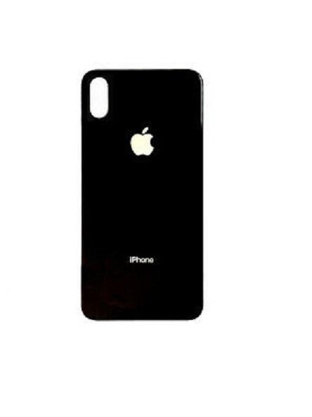 Apple iPhone X Skleněný Zadní Kryt Baterie (Black)