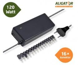 Univerzální adaptér k notebooku 120W s USB výstupem a 16 výměnnými konektory