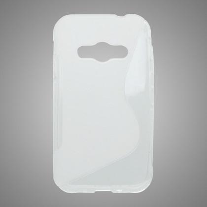 TPU Pouzdro Transparent pro Samsung G388 Galaxy Xcover 3