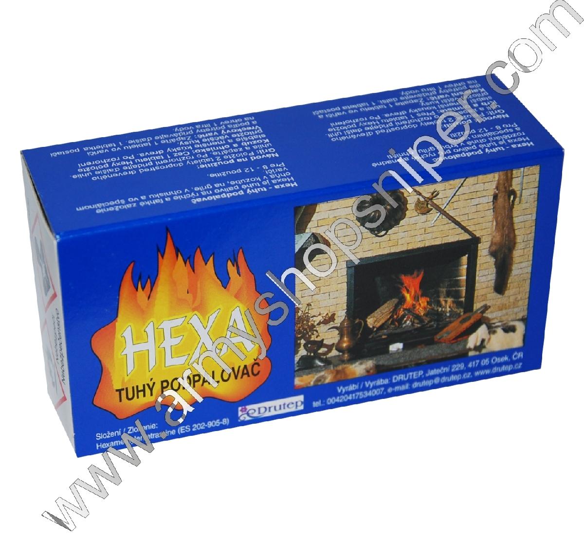 HEXA tuhý podpalovač, pevný líh