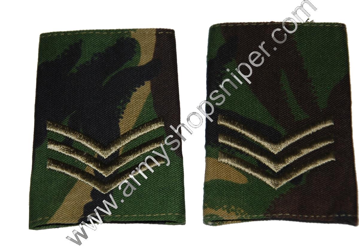 Britské výložky Sgt