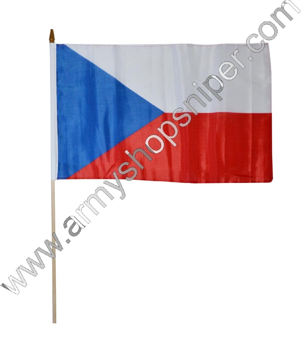 Vlajka na tyčce Česká republika