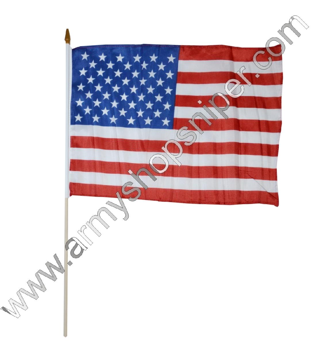 Vlajka na tyčce USA
