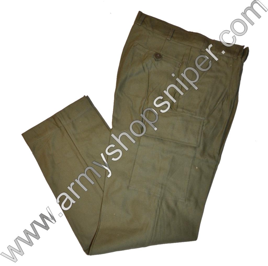 Kalhoty  zelené pas 80cm, délka 110cm