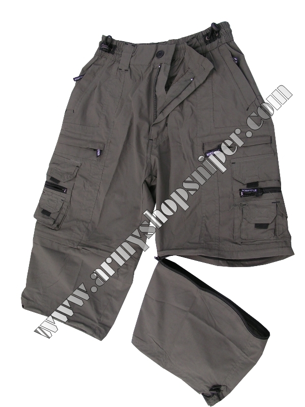 Kalhoty tříčtvrteční, kraťasy khaki