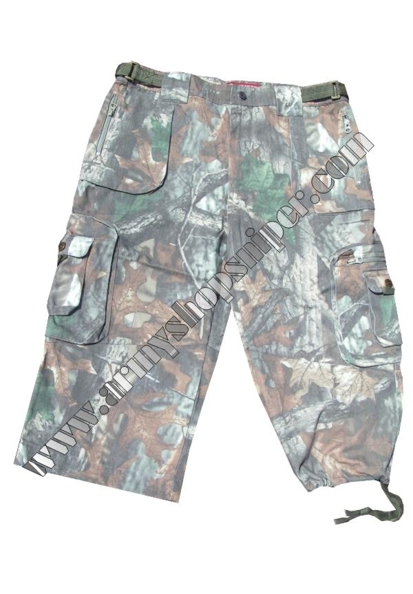 Kalhoty tříčtvrteční, kraťasy - les