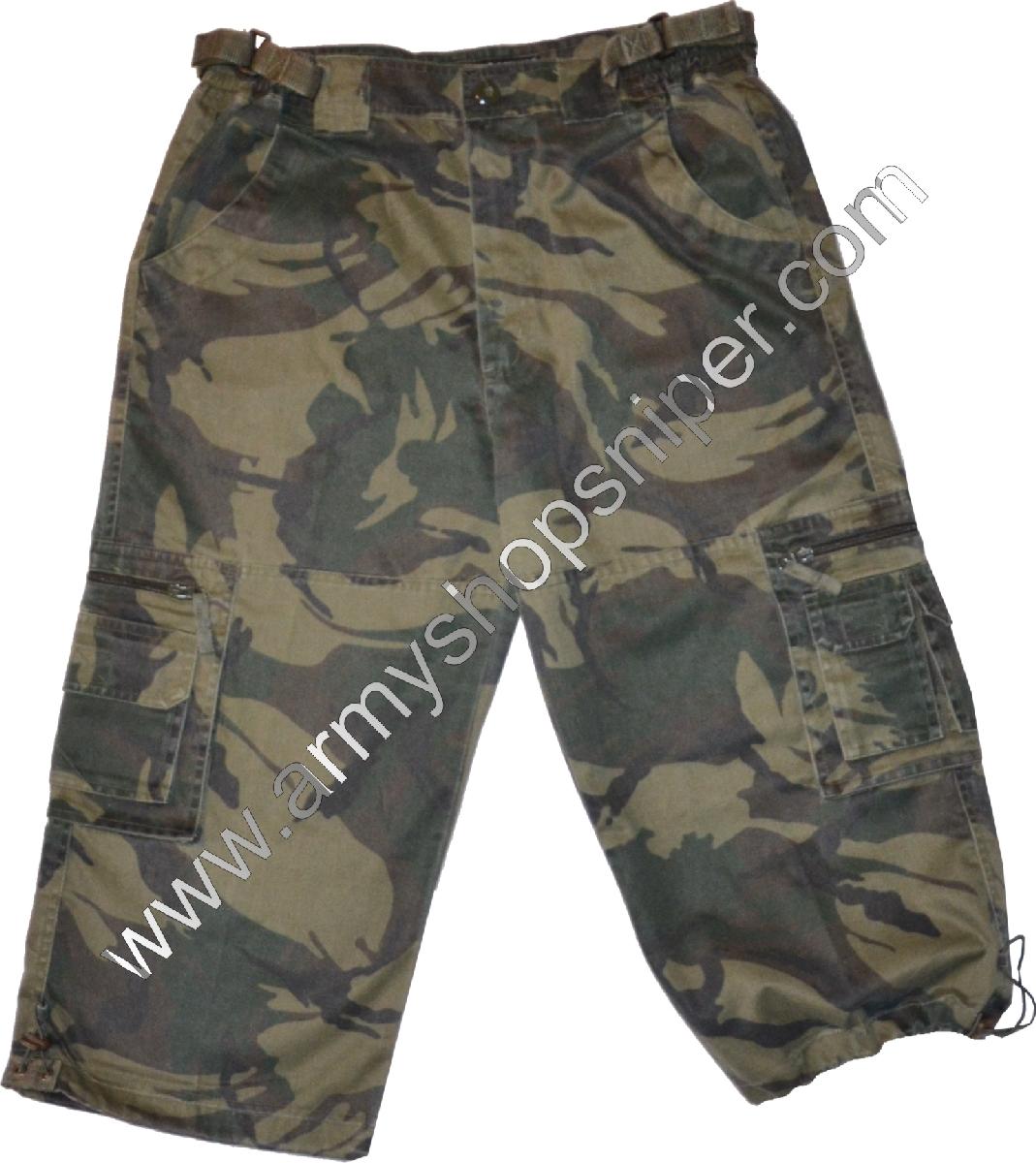 3/4 kalhoty maskované kraťasy