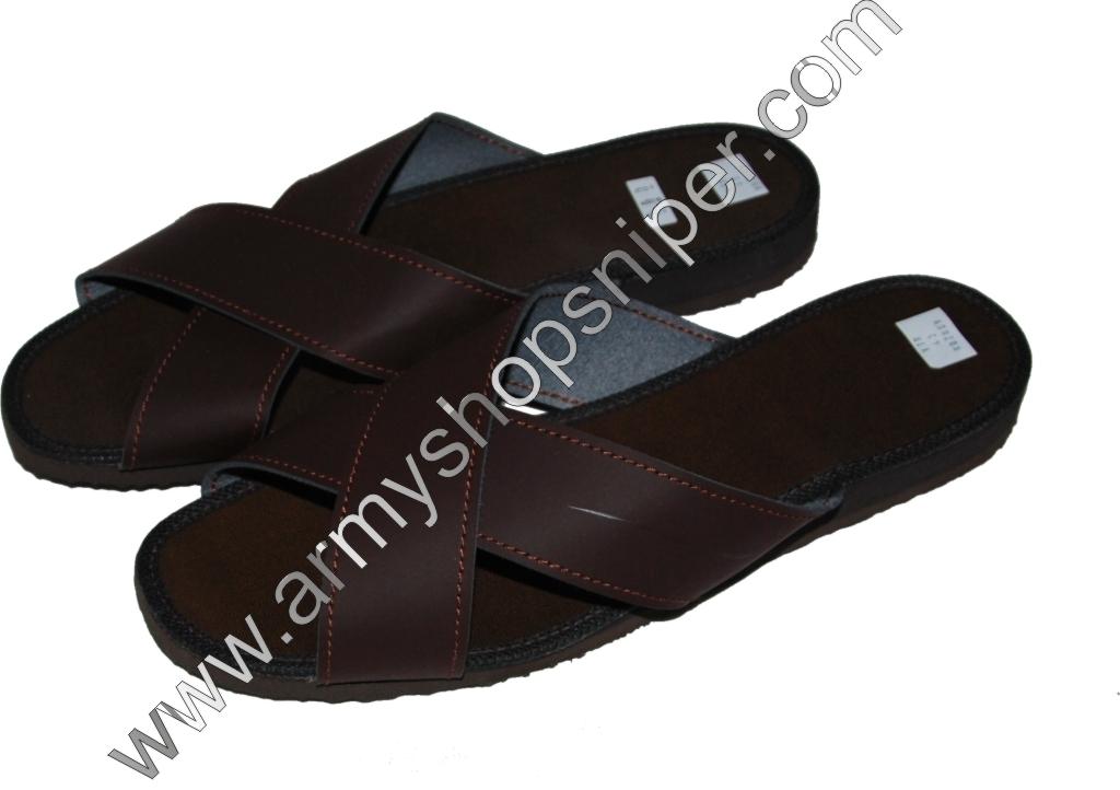 Pantofle kožené vojenské