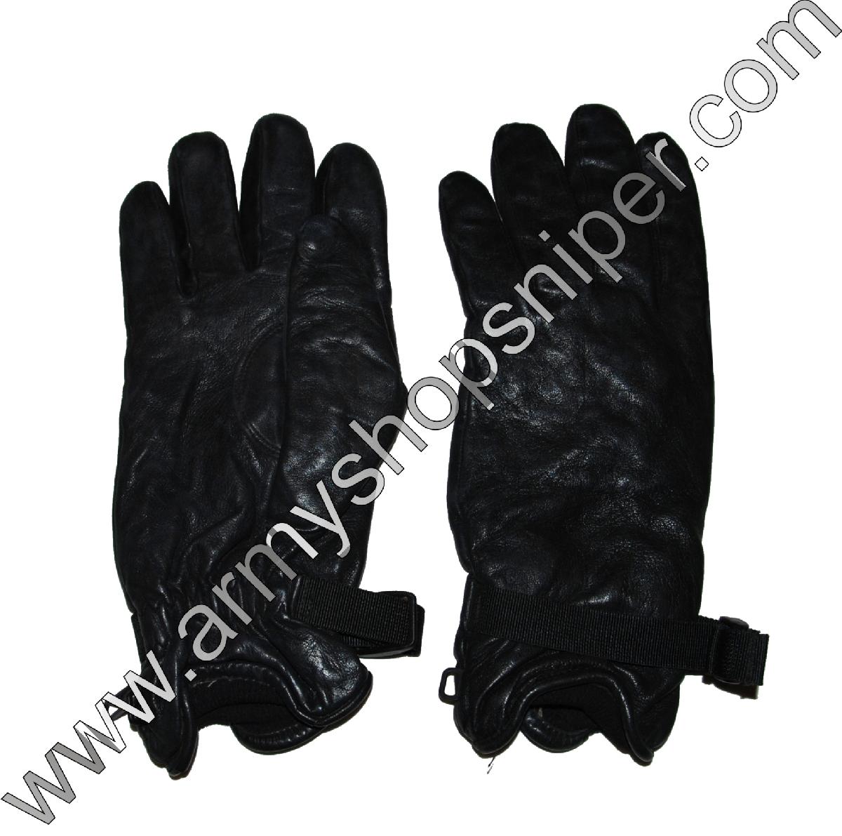 Rukavice kožené černé