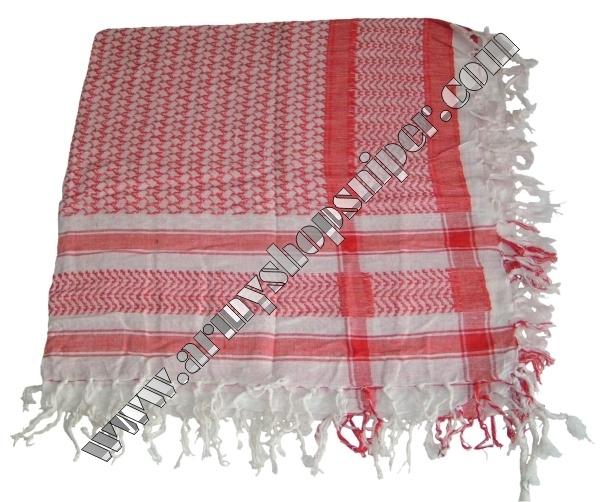 Shemag, palestina červená/bílá