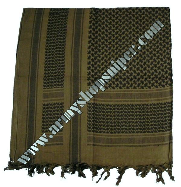 Shemag, palestina  khaki/černý