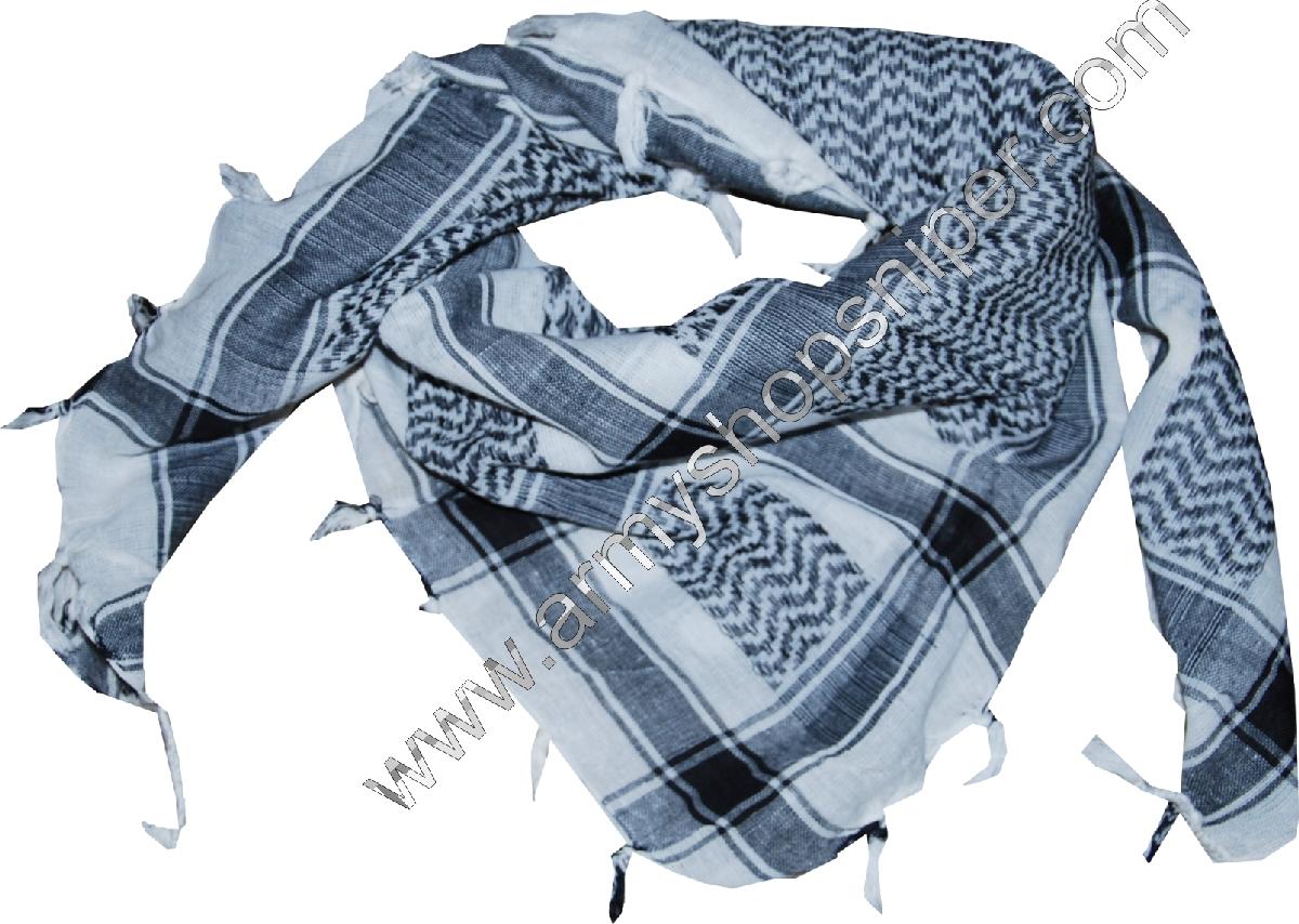 Šátek Shemag černobílý