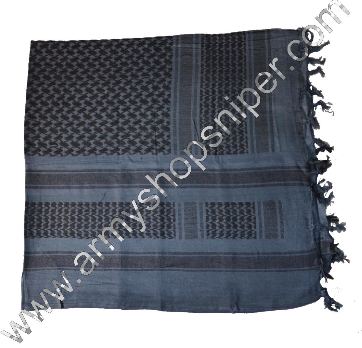 Shemag, palestina modro/černý
