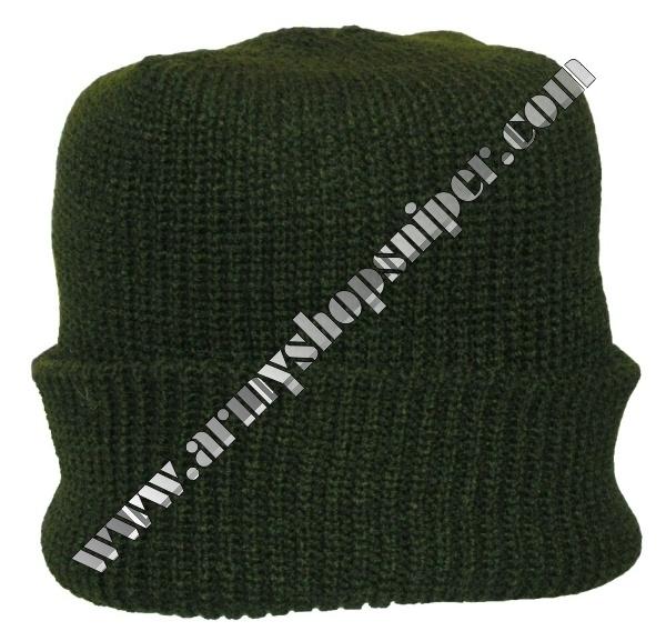 Čepice pletená Tmavě zelená