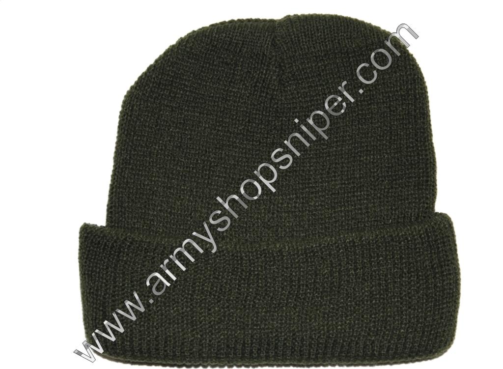 Čepice pletená silná Khaki