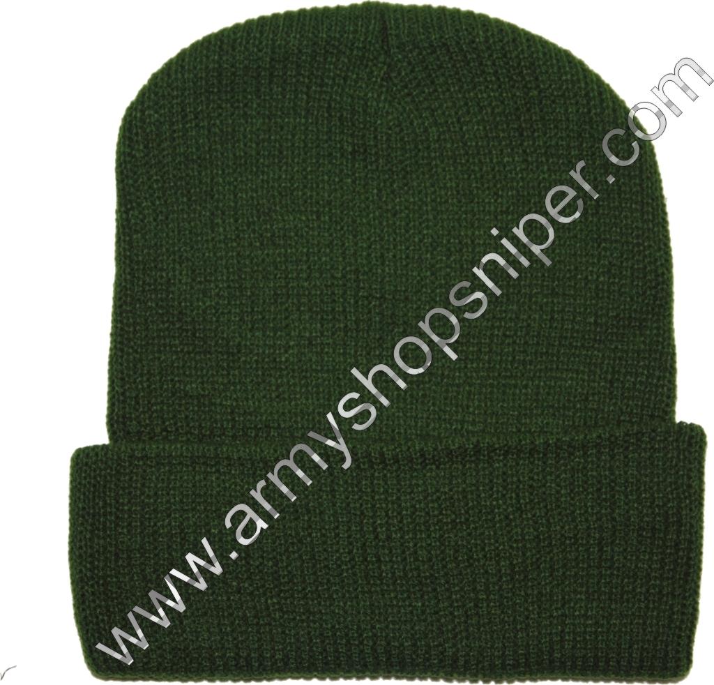 Čepice pletená silná zelená