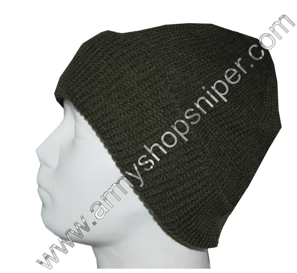 Čepice pletená silná podšitá khaki