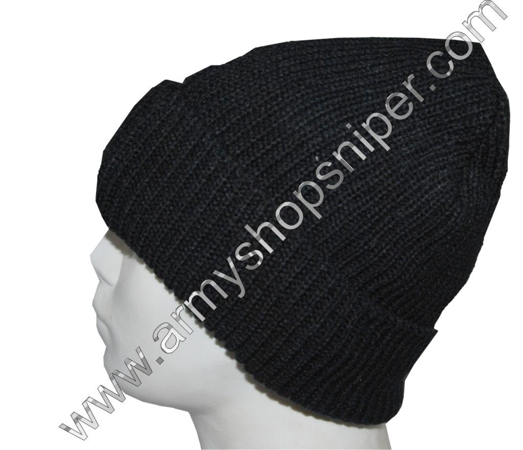 Čepice pletená silná podšitá černá