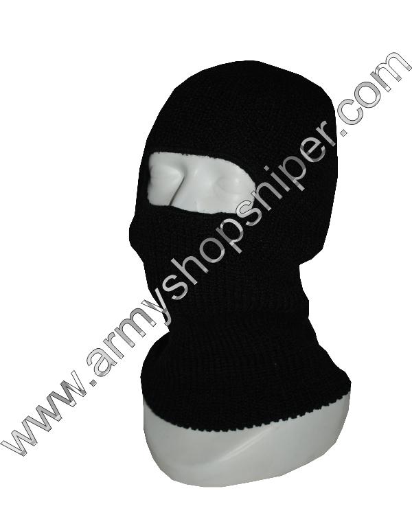 Kukla pletená  1 otvor černá